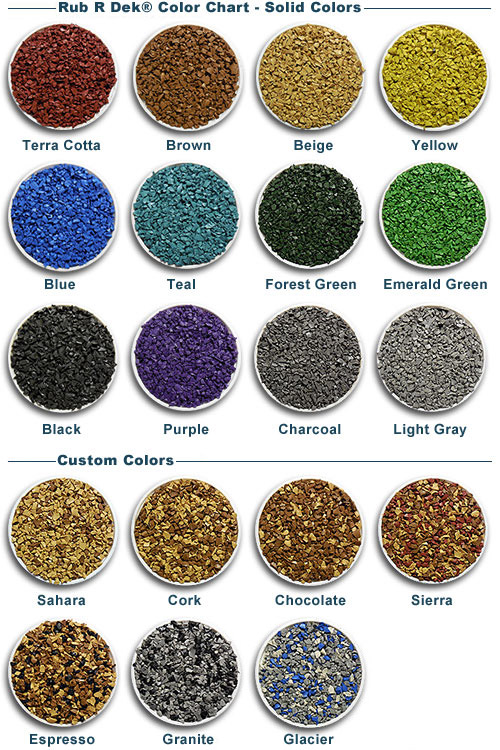 Rub R Dek Color Chart